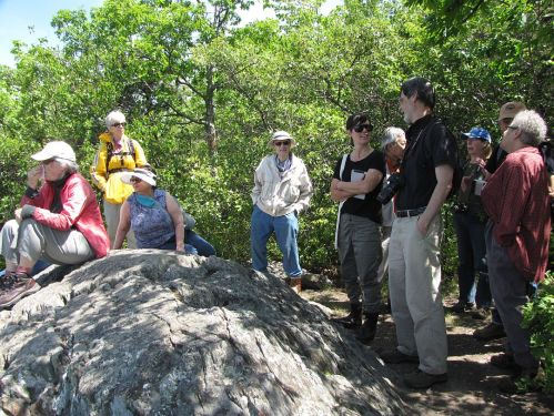 Participants in the Ecology Walk to Sunset Rock on June 7, 2015
